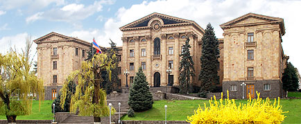 The Parliament building in Yerevan.