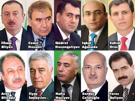 The ten candidates registered for the Presidential Election in Azerbaijan.