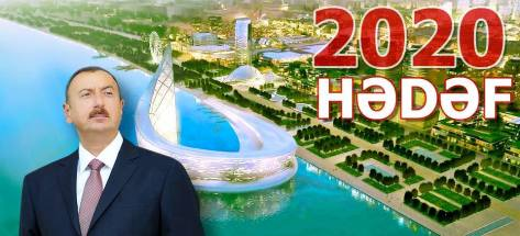 President Aliev's election campaign projects him as a visionary leader.